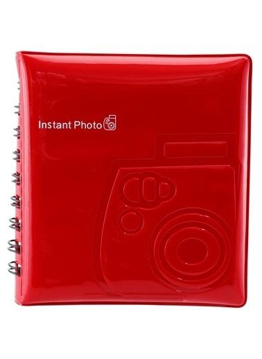Fujifilm instax mini Film Uyumlu Kirmizi 64'lü Kare Albüm Renkli